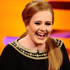 See, even Adele can't resist a good joke!