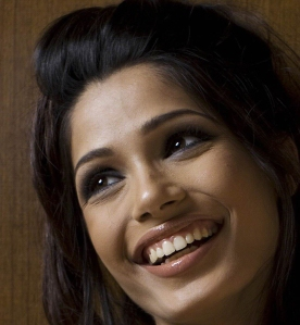 Freida Pinto Laughing